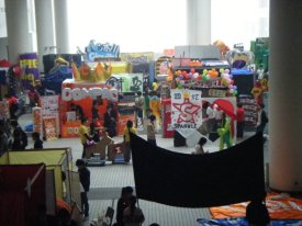A bird's eye view of some of the student clubs campaigning for new members. It was like a carnival everyday!