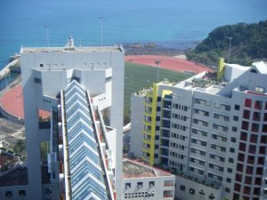 This is the scene I was greeted with daily living at HKUST - what a view!