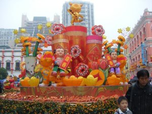 One of the many floats on display for Chinese New Year in Macau.