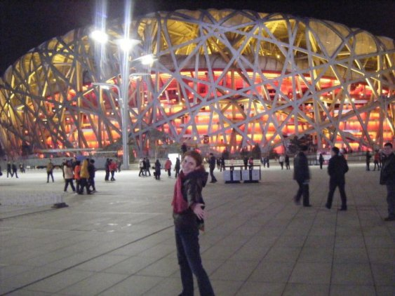 The Bird's Nest used in the 2010 Summer Olympics. Can't believe I was there in person.