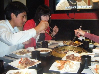 A shot of our excellent Korean BBQ dinner at Han Wo. Delicious!
