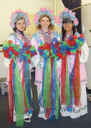 We all looked like total naturals for a Chinese opera performance, right?
