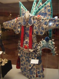 One of many gorgeous Chinese opera costumes on display.