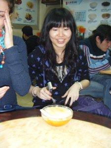 Cherry's ginger tofu dessert. Mmm...
