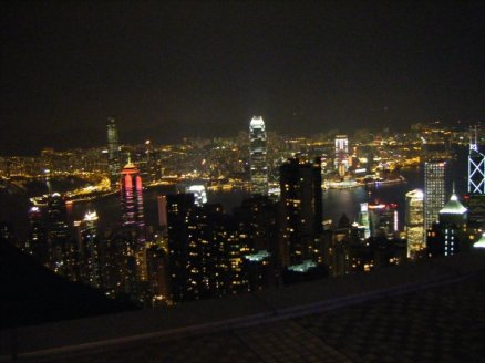 One of the very few non-blurry pictures of Hong Kong from Victoria's Peak.