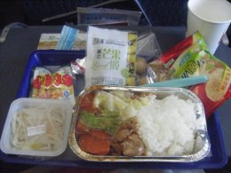 See? I wasn't kidding about the full-meal. And on a three hour flight no less. Amazing!