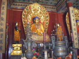 One of many Buddhist shrines within Lama Temple.