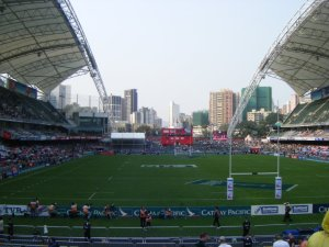 Hong Kong Stadium where Rugby Sevens was hosted. Very impressive venue.