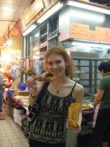 Me and my love of street food. This cost me just $0.75 USD, by the way.