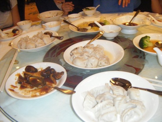 Part of the banquet dinner. Yum - dumplings!
