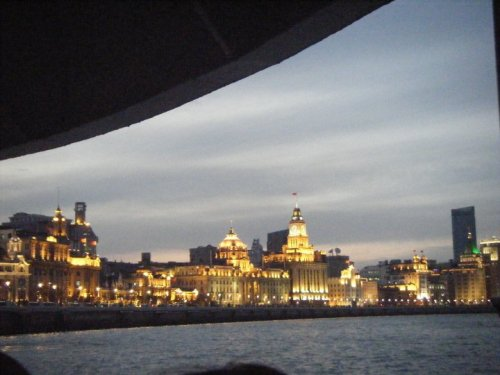 A view of Shanghai from the ferry we took crossing the bund. Very nice.