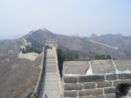 It looks like the Great Wall goes on forever and ever in this shot. It seemed like it too during our hike.