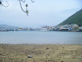 The view of the port we docked at on Lamma Island from the hiking trail. Very pretty.