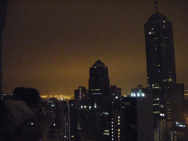 A view of the Hong Kong skyline from one of the clubs in LKF.