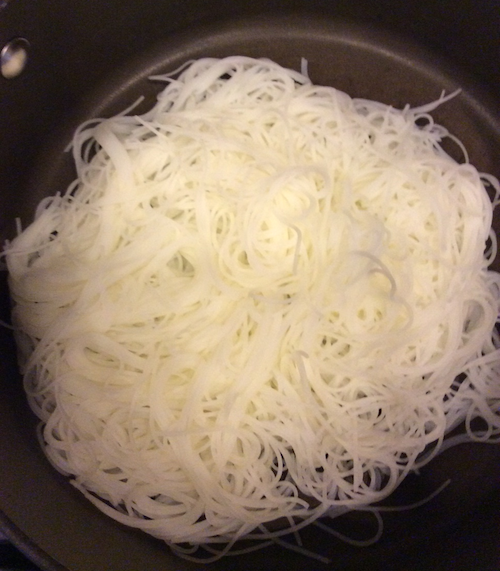 The rice stick noodles that go under the stir fry.