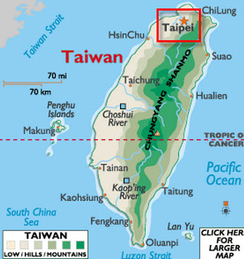 Destination: Taipei, Taiwan.