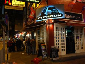 Typhoon bar. One of the many bars in Wan Chai.