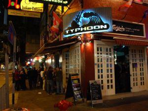 Typhoon bar. One of the many bars in Wan Chai.