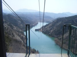 The prize at the end of the Great Wall - the zipline! A sweet sight for sore feet.