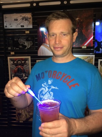 Sean was very happy with his Star Wars themed drink. I loved the tiny light saber.