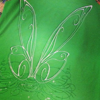 The back of one of Jenn's awesome Raw Threads designs. Tinkerbell-inspired wings! Love it!