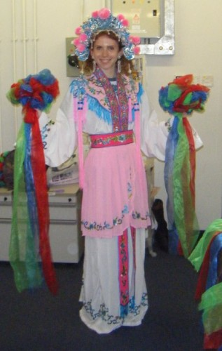 One last shot of me as a Chinese opera dancer for your entertainment.