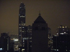 Another great shot of Hong Kong's skyline from one of the club's balconies in LKF.