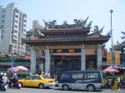 Longshan Temple and all the tourists that naturally came with it.