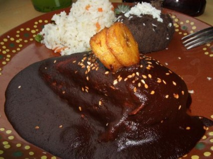 Chicken mole. It may look a little iffy, but trust me, delicious!