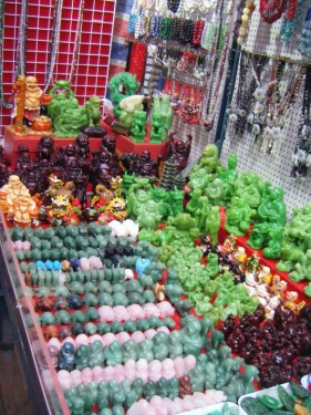This wasn't on Jade Street per se - just a regular jade stall in Mong Kok market. Still pretty cool though.