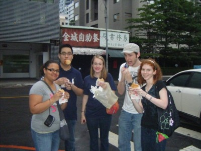 "We quickly adopted the moniker ""Team Buns"" during our time in Taiwan for obvious reasons."