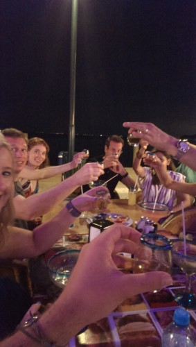 Cheers to a great vacation! Photo courtesy of: Dancin' Dirk.