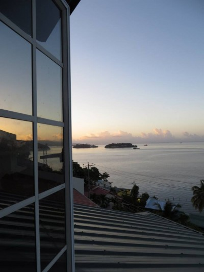 Down the Islands at dawn. I'm glad I woke up to see this at least once. It was so still and unreal.