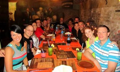 The quintessential group dinner shot at La Distileria. Photo courtesy of Adam Jones-Kelley.