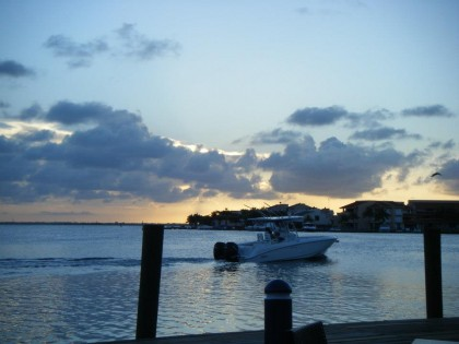 The view of the lagoon at our final dinner in Cancun. How picturesque, right?