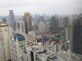 Our view of Shanghai from our hotel room. Wow!