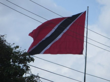 It resembles the international sign for scuba diving, but it's actually the official flag of Trinidad and Tobago.