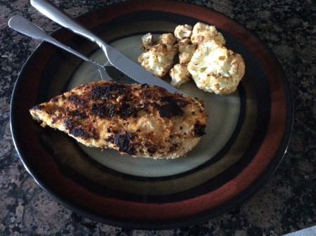 This piece of chicken got a little too browned in the skillet, but trust me, it still tastes fantastic in your mouth.