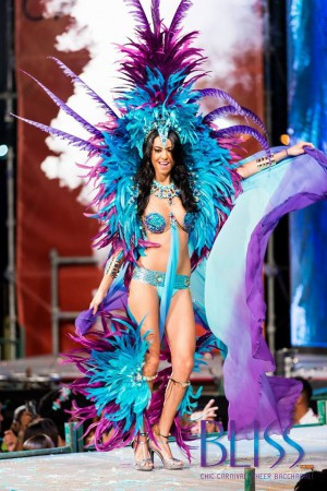 Just one of many gorgeous costumes from Bliss Carnival for 2015. Photo courtesy of: Bliss Carnival