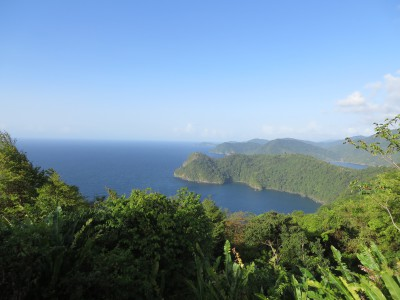 Lovely shot of Maracas from up on the mountainside.