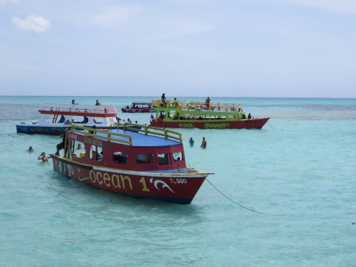 All the glass bottom boats chilling at the Nylon Pool. The water was only waist deep in all directions.