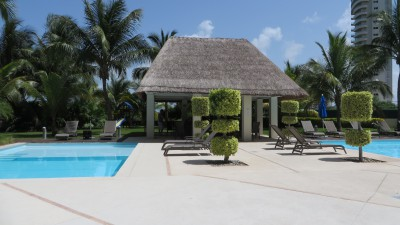 Our two pools and cabana where we wiled away the hours.