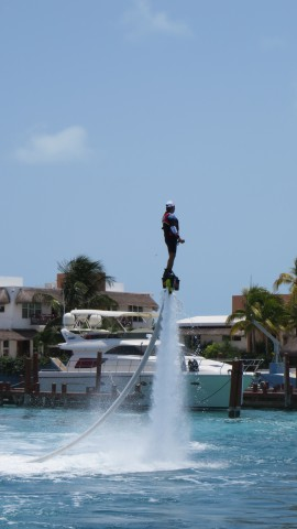We saw a number of these guys flying around on their water boards. Very  cool!