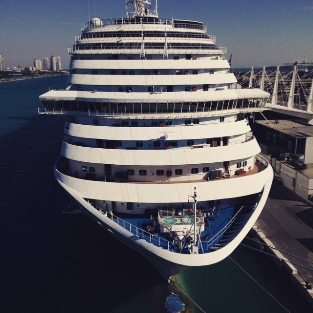 Are you excited yet? Look at the size of the cruise ship!