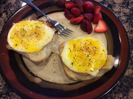 healthier open-faced breakfast sandwich