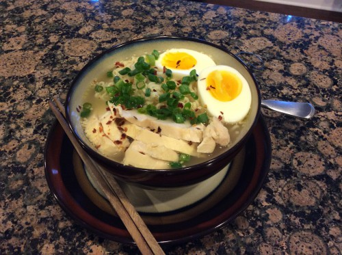 chicken ramen homemade in crockpot