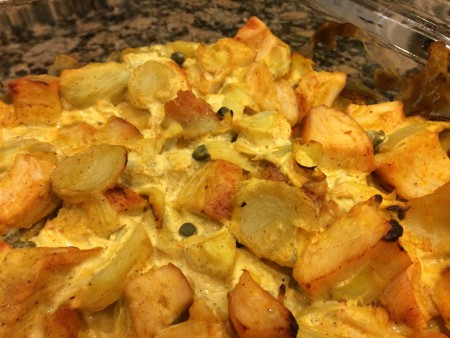 curried chicken and artichoke casserole