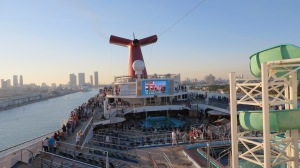 Behold, the Lido deck. Complete with water slide, of course.