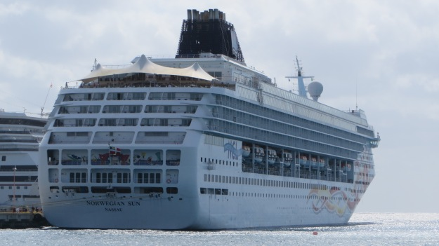 Cruise ship in Cozumel