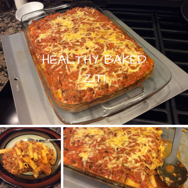 healthy baked ziti in dishes